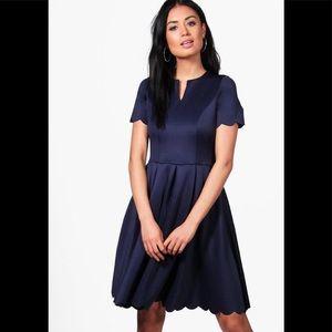 Alice scallop dress